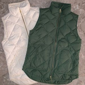 Bundle of Two Quilted J.Crew Vests